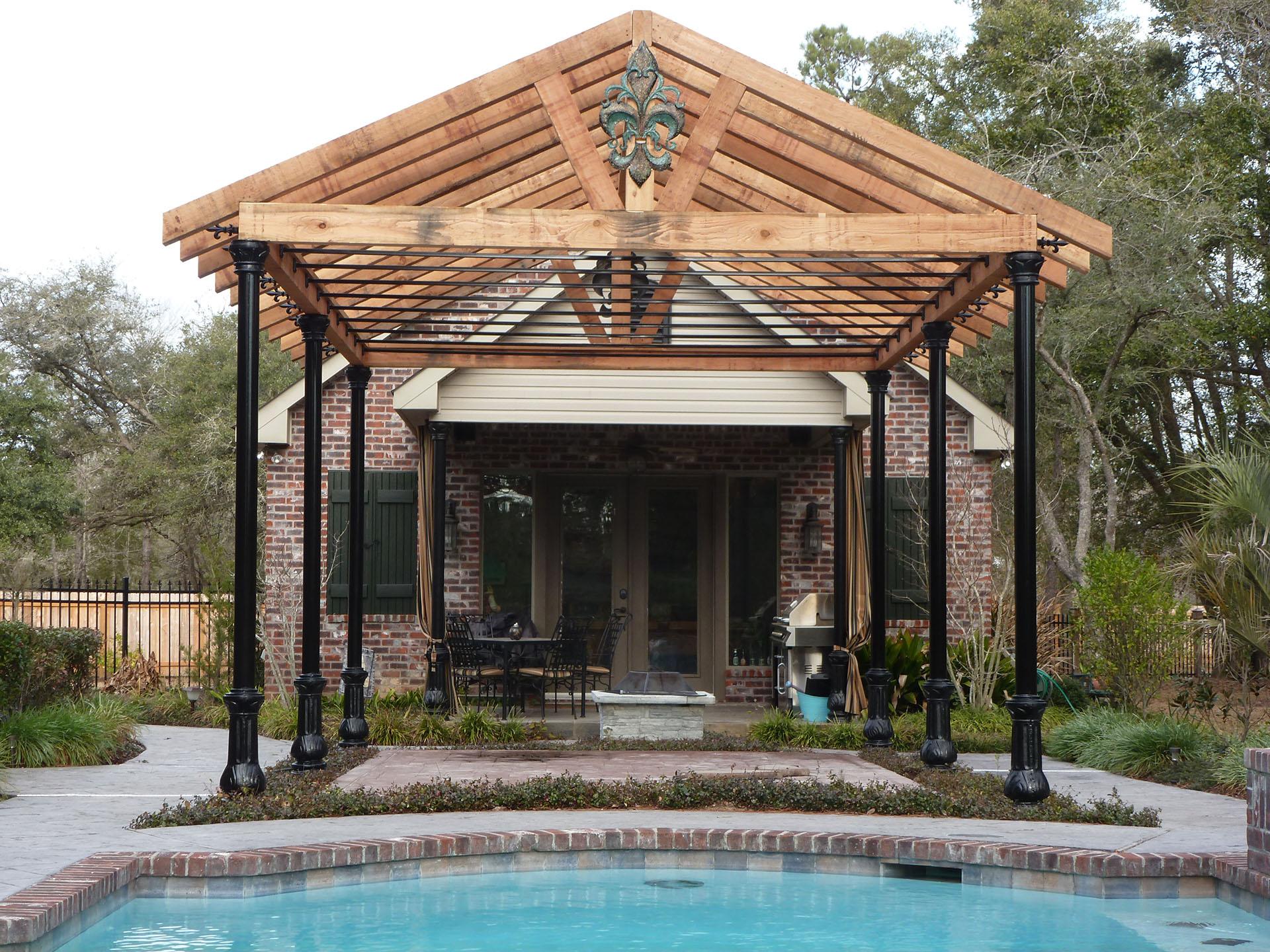 Pergolas   New Orleans Pergola Designs   Custom Outdoor ... on Covered Pergola Ideas  id=30275
