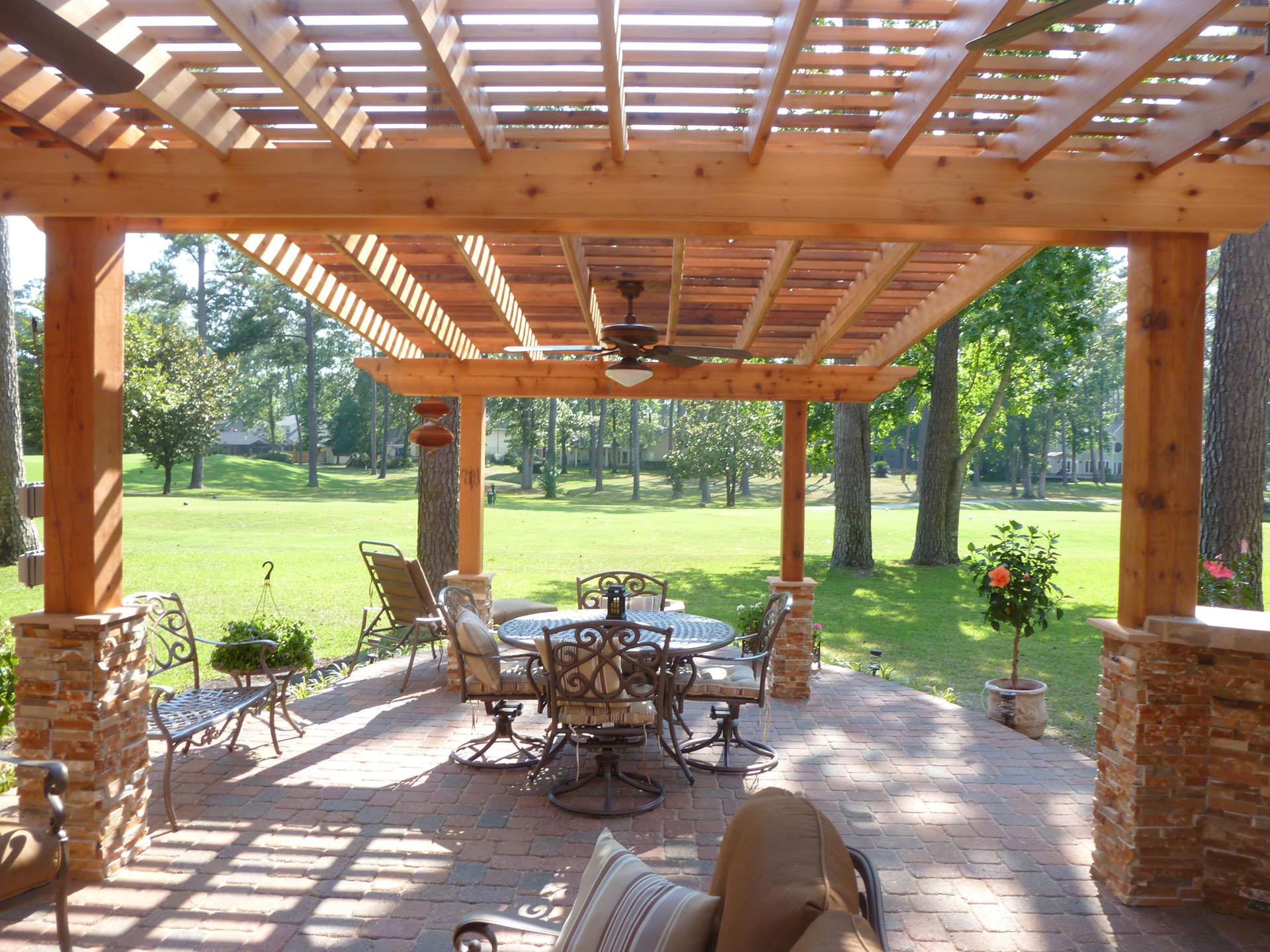 pergolas custom outdoor concepts. Black Bedroom Furniture Sets. Home Design Ideas